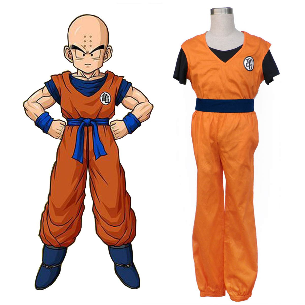 Dragon Ball Krillin Cosplay Kostym Sverige