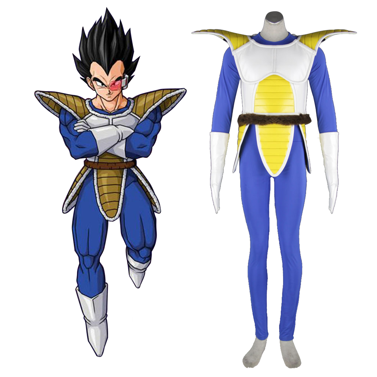 Dragon Ball Vegeta 1 Cosplay Kostym Sverige