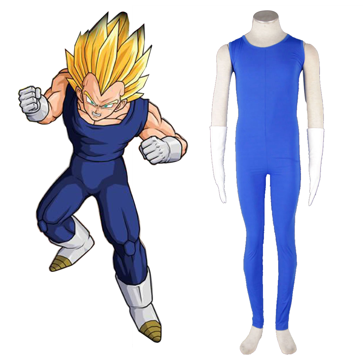 Dragon Ball Vegeta 2 Cosplay Kostym Sverige