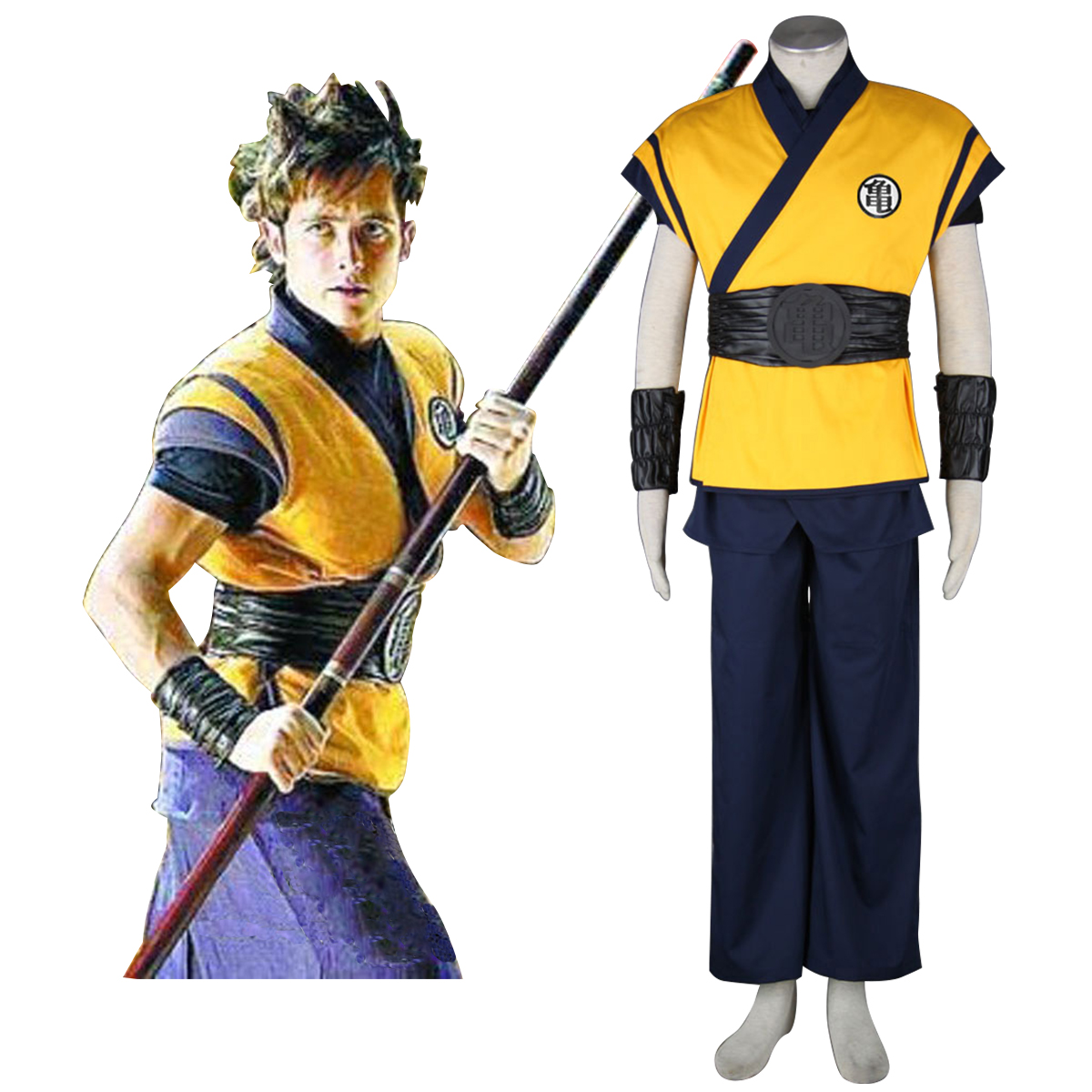 Dragon Ball Son Goku 3 Cosplay Kostym Sverige