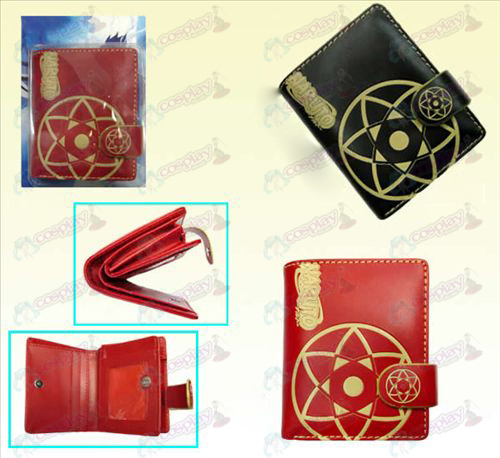 Naruto Sasuke kaleidoscope two-color leather wallet (a)
