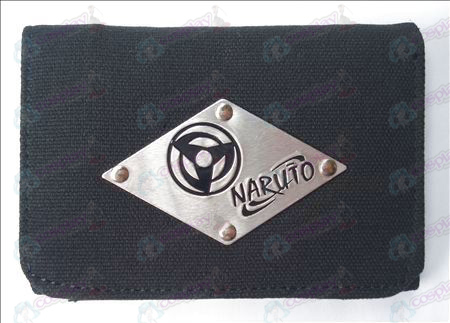 Naruto write round eyes White canvas wallet