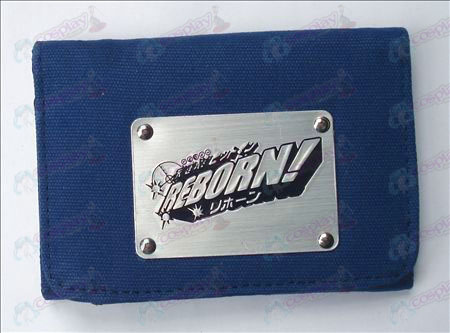 Reborn! Accessories White Canvas Wallet (Blue)