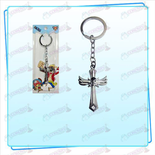 One Piece Accessories Sauron symbol wing cross key ring