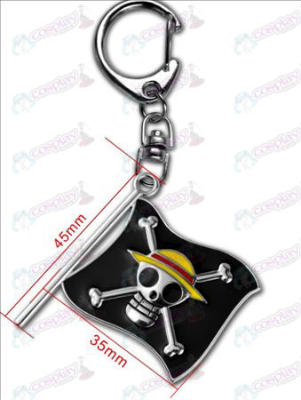 One Piece Accessories-Luffy Pirate Flag Keychain