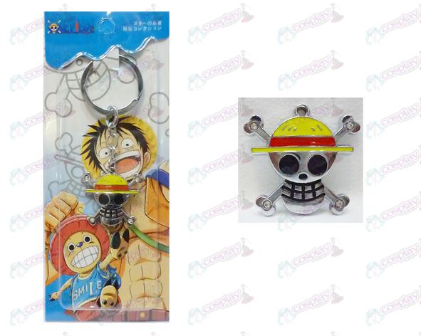 One Piece Accessories posterior fly two flags Keychain