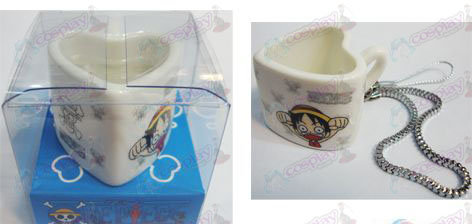 One Piece Accessories Strap heart-shaped ceramic cup