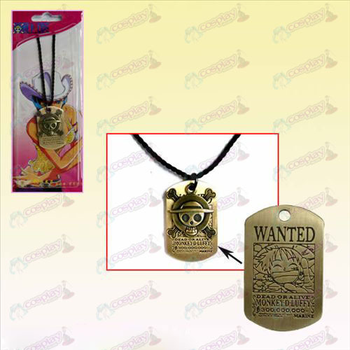 One Piece Accessories Luffy square cards + Kito necklace