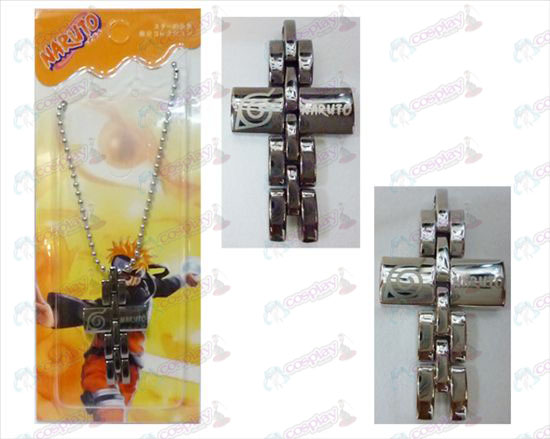 Naruto black and white cross necklace
