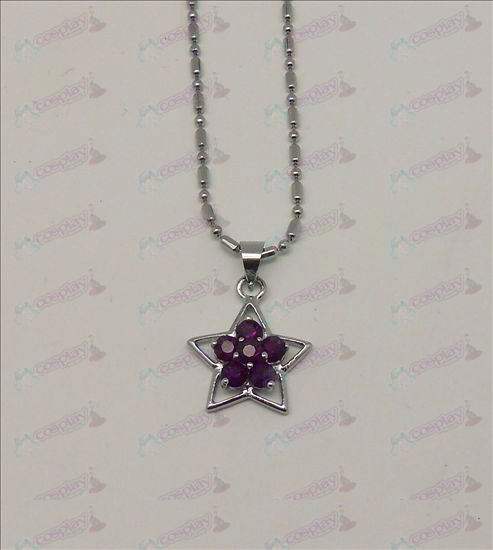 Blister Lucky Star Accessories Diamond Necklace (Purple)