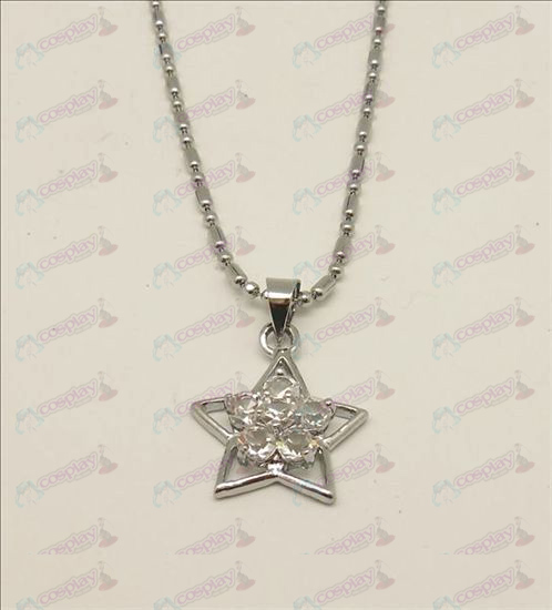 Blister Lucky Star Accessories Diamond Necklace (White)