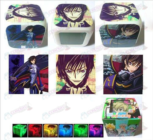 Lelouch three surface color colorful alarm clock
