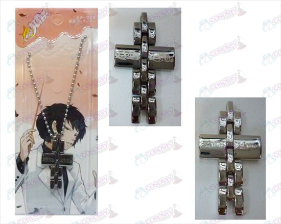 Star-Stealing Girl Accessories black and white cross necklace