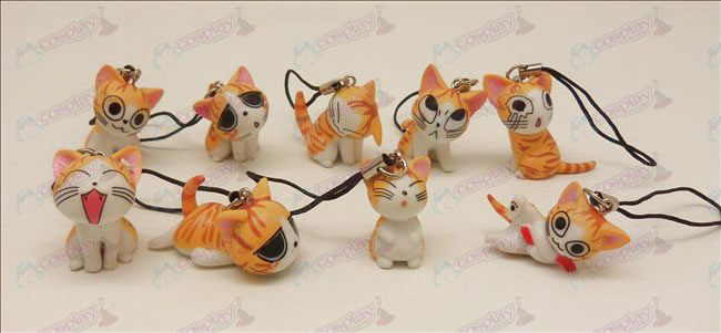 9 Sweet Cat Accessories Machine Strap (Orange)