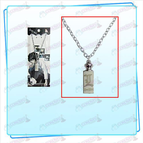 Death Note AccessoriesL sign necklace weights