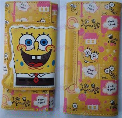 SpongeBob SquarePants Accessories color long wallet (B section 2)