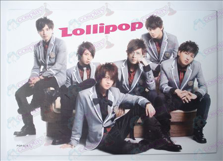 42 * 29 lollipops embossed posters (8 / set)