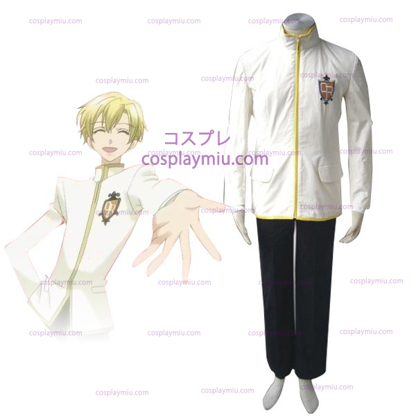 Vit Ouran High School Host Club Boy Uniform Cosplay Kostym