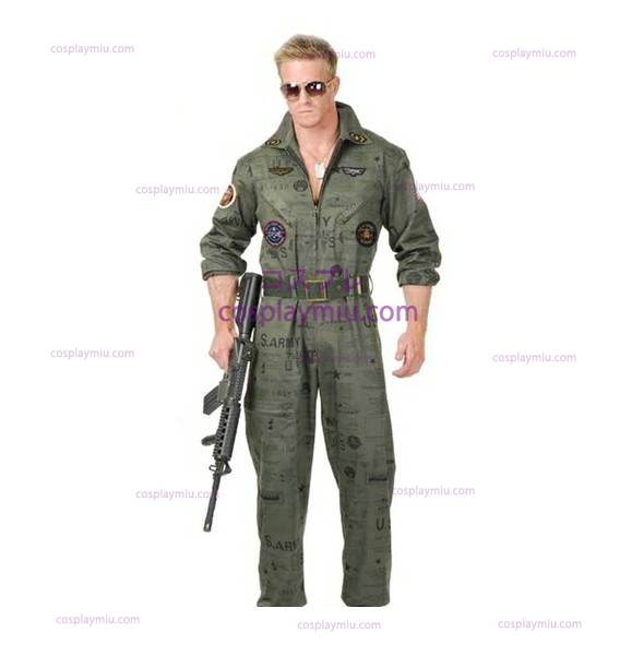 Top Gun Air Force Army Flight Suit Halloween Costume