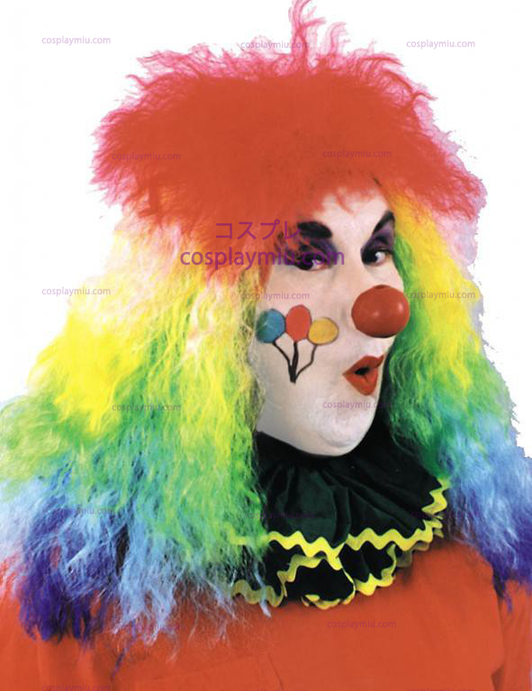 Rainbow Curly Clown Peruker