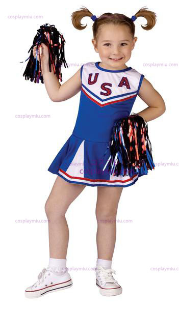 USA Cheer Småbarn Kostym