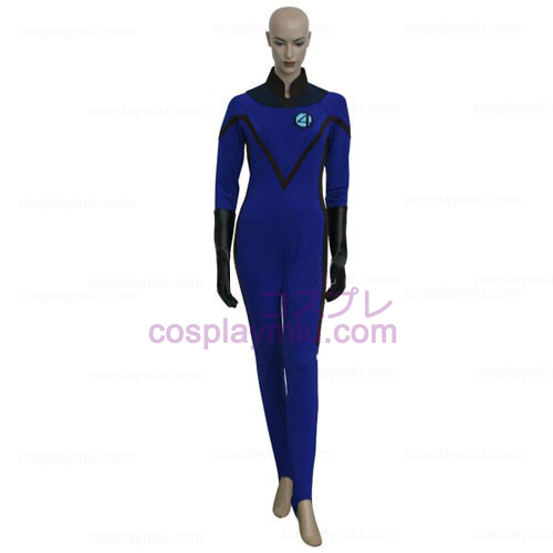 Fantastic 4 Invisible Woman Cosplay Dräkter
