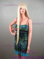 "36"" Straight Natural Blonde Cosplay Wig"