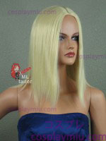 "16"" Midpart Natural Blonde Cosplay Wig"