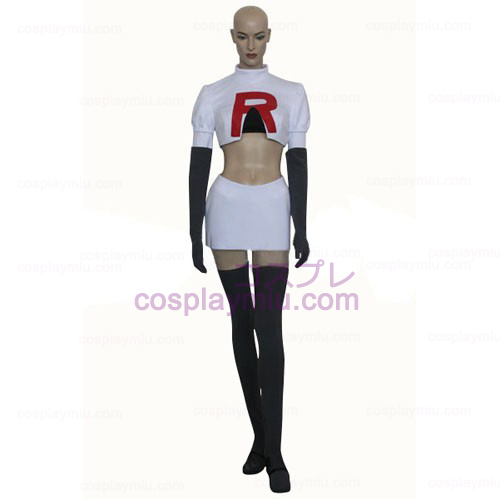 Pokemon Team Rocket James Cosplay Kostym