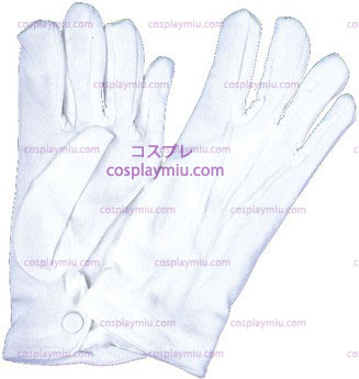 Gloves Men Nylon W/Snap,White