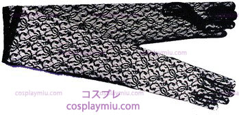 Gloves Black Lace Elbow