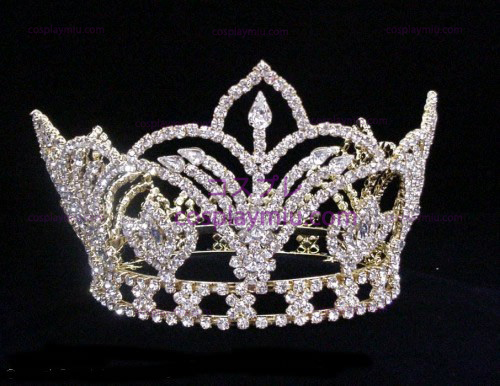 Rhinestone Crown Silver-Tone-CT011