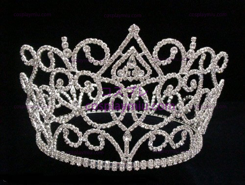 Silver-Tone Rhinestone Crown-CT010
