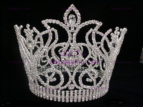 Rhinestone Crown Silver-Tone-CT012