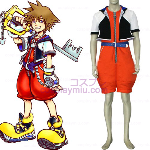 Kingdom Hearts 1 Sora Män s Cosplay Kostym
