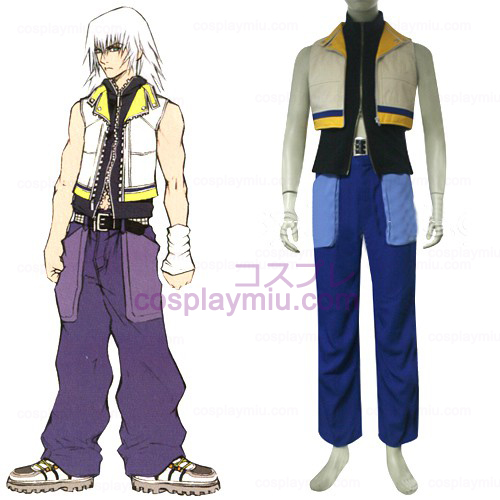 Kingdom Hearts 2 Riku Män s Cosplay Kostym