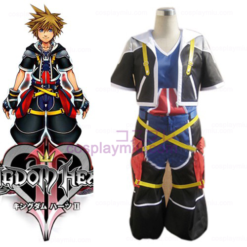 Kingdom Hearts 2 Sora Män s Cosplay Kostym