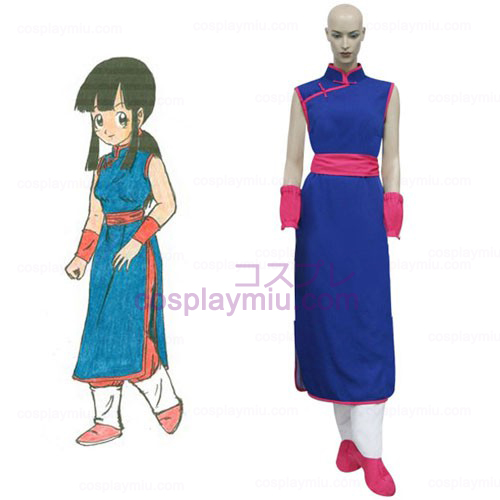 Dragon Ball Chi Chi Cosplay Kostym