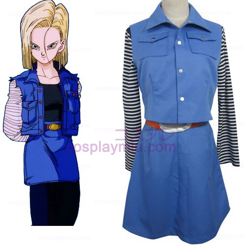 Dragon Ball Android 18 Cosplay Kostym