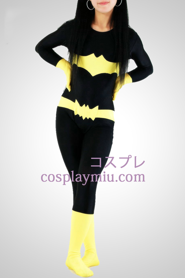 Bat Woman Lycra Superhero Catsuit