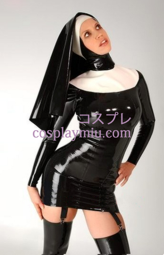Latex nun Dress