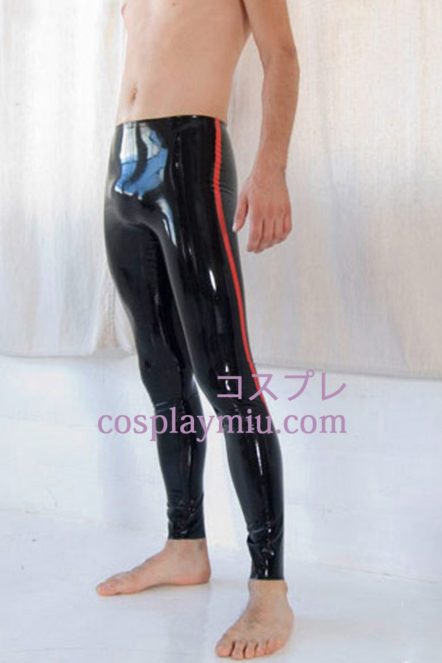 Black And Red Herr Latex Pants