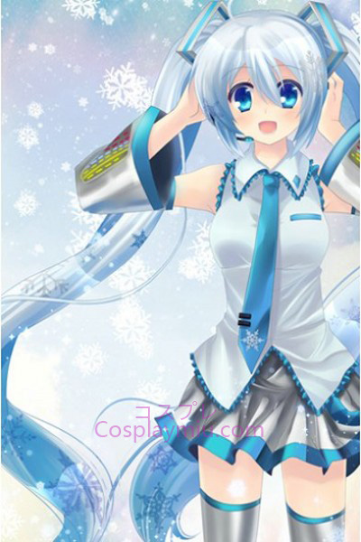 Vocaloid Long Snow Cosplay peruk